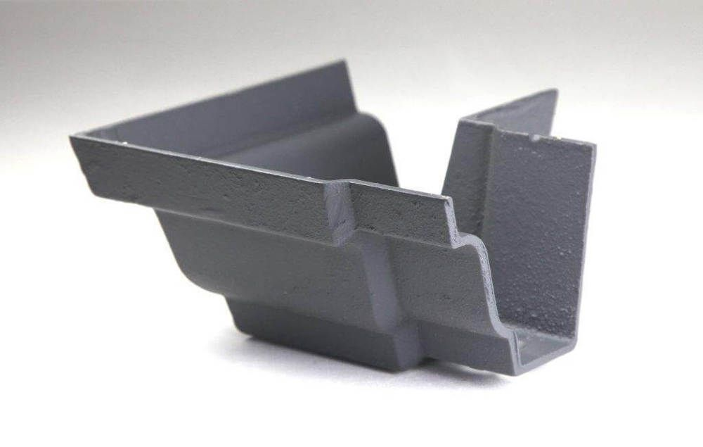 Cast Iron Moulded Ogee Gutter External Angle - 90 Degree x 125mm Primed