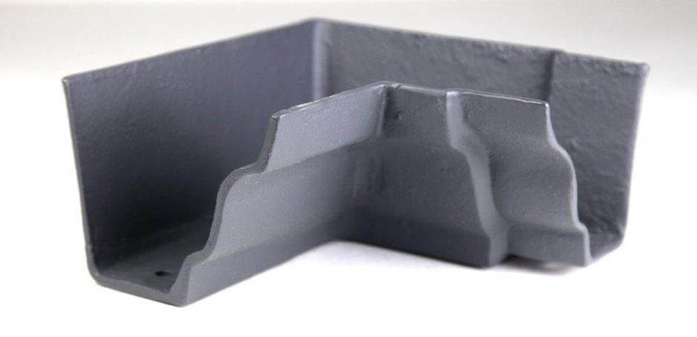 Cast Iron Moulded Ogee Gutter Internal Angle - 90 Degree x 125mm Primed