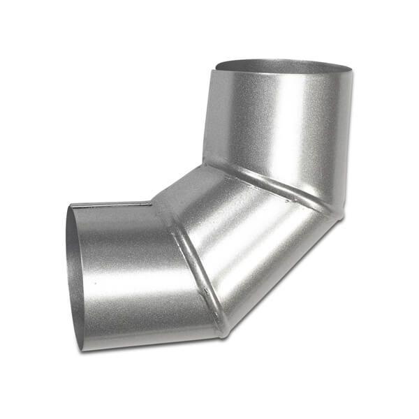 Steel Downpipe Bend - 90 Degree x 100mm Galvanised