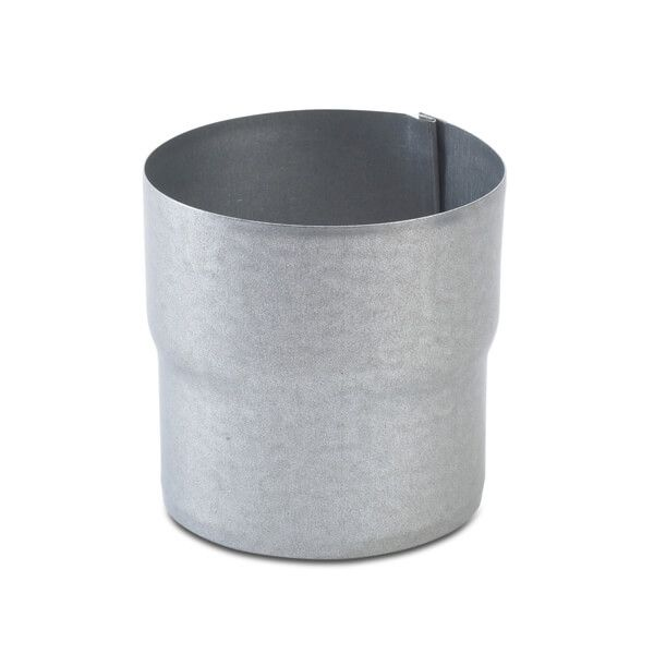 Steel Downpipe Connector - 87mm Galvanised