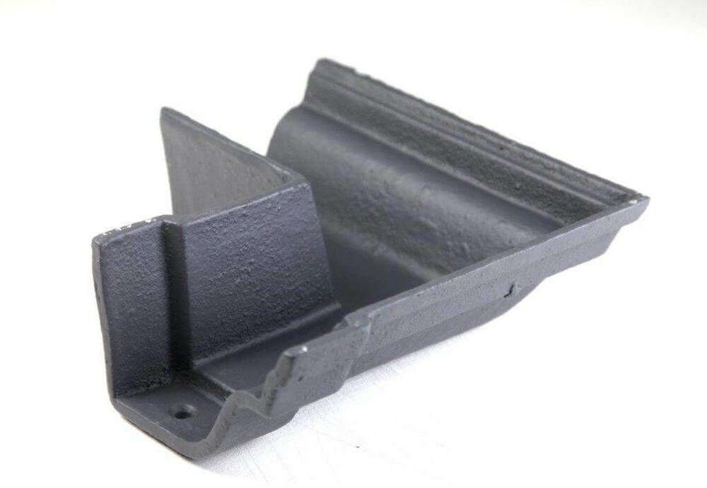 Cast Iron Notts Ogee Gutter External Angle - 90 Degree x 115mm Primed