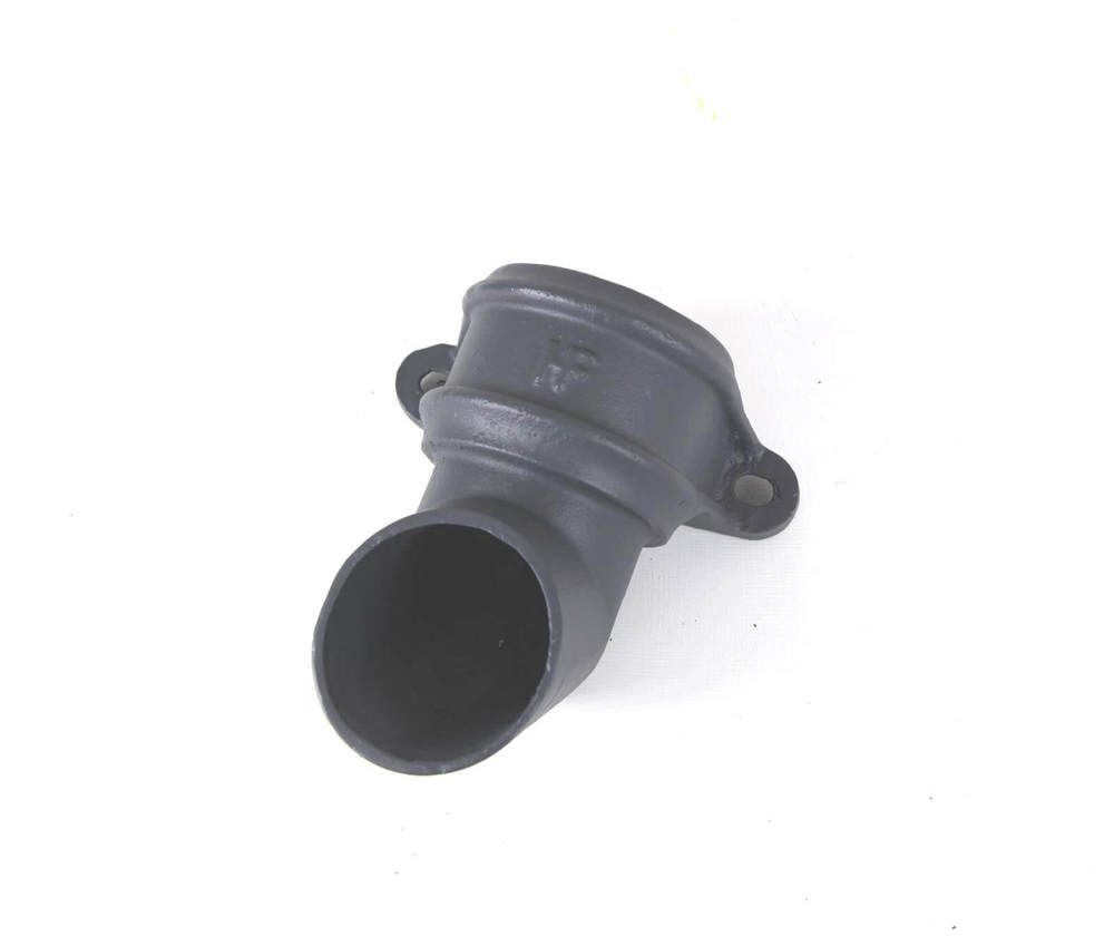 Cast Iron Round Downpipe Eared Shoe - 100mm Primed