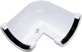 Half Round Gutter Angle - 90 Degree x 112mm White