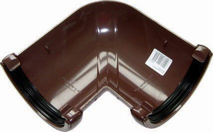 Mini Gutter Angle - 90 Degree x 76mm Brown