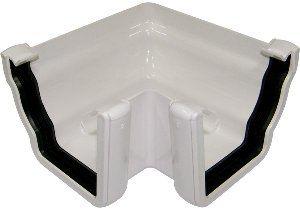 Ogee Gutter External Angle - 90 Degree x 80mm White