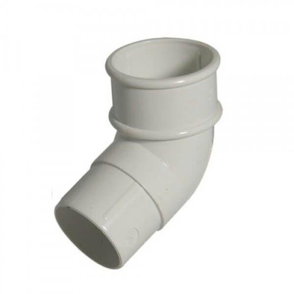 Mini Gutter Offset Bend - 112 Degree x 50mm White