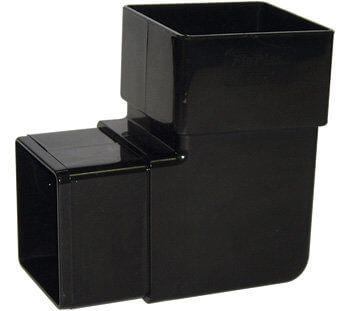Square Downpipe Bend - 92.5 Degree Black