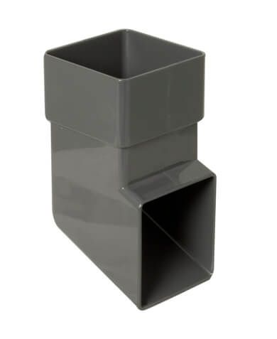 Square Downpipe Shoe - 65mm Anthracite Grey