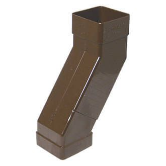 Square Downpipe Adjustable Offset Bend - 65mm Brown