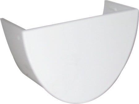 Deepflow/ Hi-Cap Gutter Internal Stopend - 115mm x 75mm White