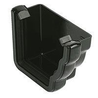 Ogee Gutter External Stopend Right Hand - 110mm x 80mm Black