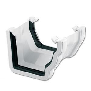 Square to Ogee Right Hand Gutter Adaptor - White