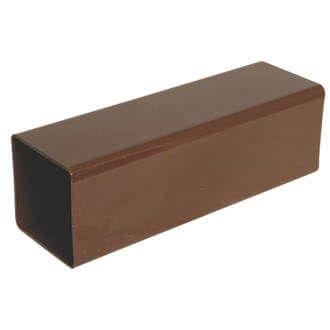 Square Downpipe - 65mm x 5.5mtr Brown