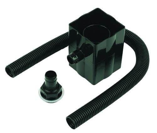 Square and Round Downpipe Rain Diverter - Cast Iron Effect