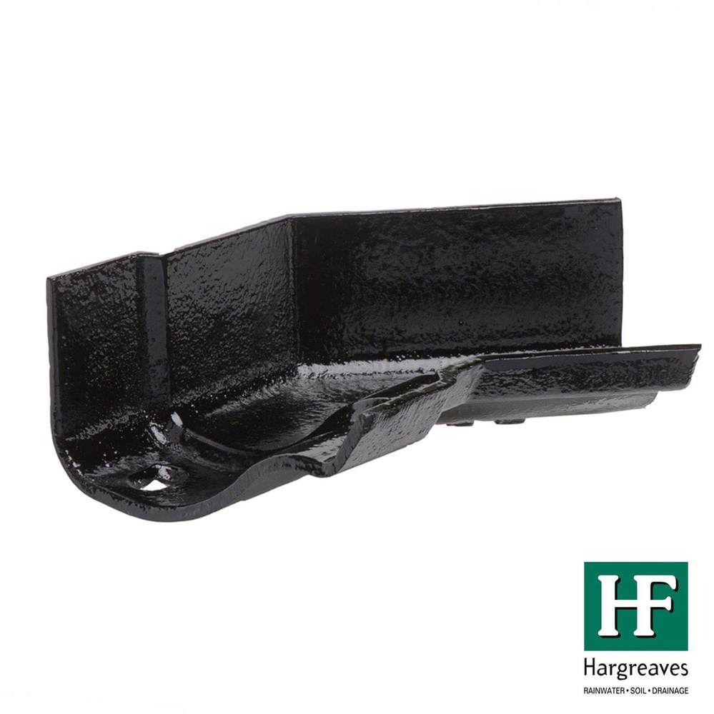 Cast Iron Ogee Gutter Internal Angle - 135 Degree x 125mm Black
