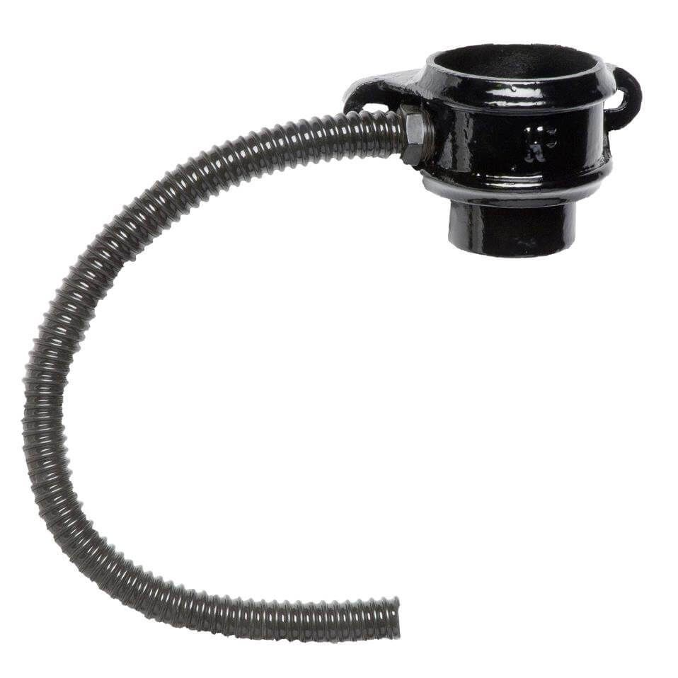 Cast Iron Round Downpipe Diverter Kit Left Hand - 75mm Black