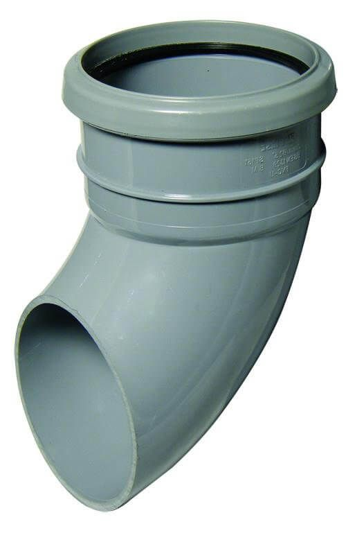 Industrial/ Xtraflo Downpipe Single Socket Shoe - 110mm Grey
