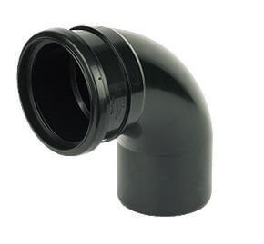 Industrial/ Xtraflo Downpipe Single Socket Bend - 92.5 Degree x 110mm Black