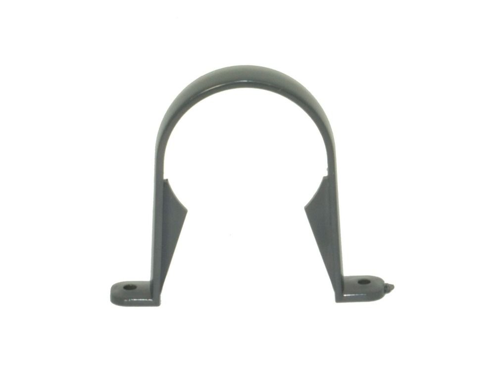 Round Downpipe Clip - 68mm Anthracite Grey