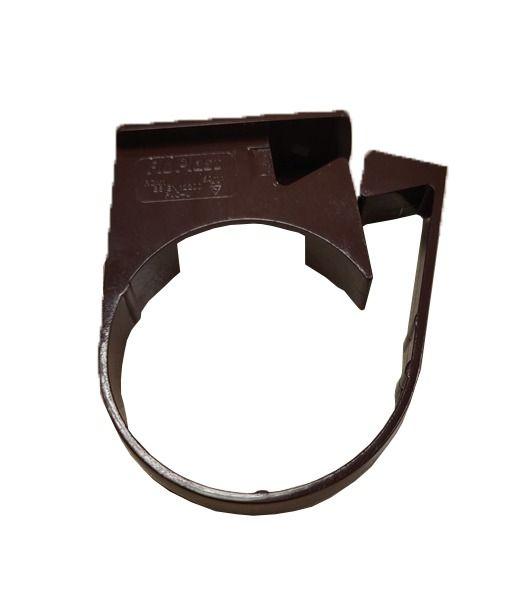 Mini Gutter Downpipe Clip - 50mm Brown