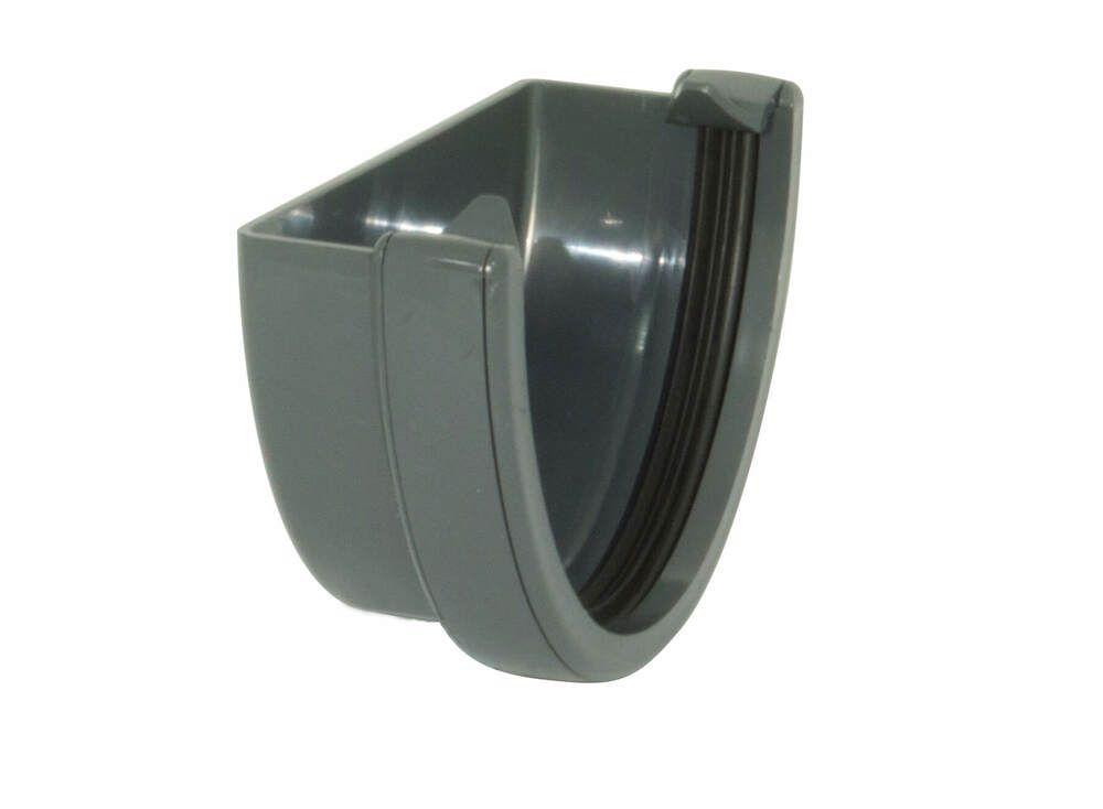 Deepflow/ Hi-Cap Gutter External Stopend - 115mm x 75mm Anthracite Grey