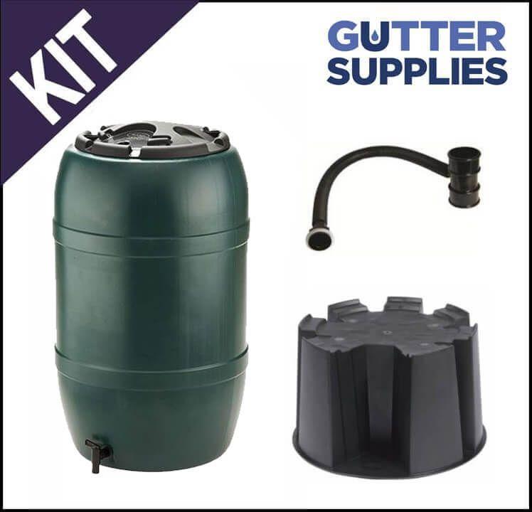 Water Butt Kit for Mini Gutter - Black