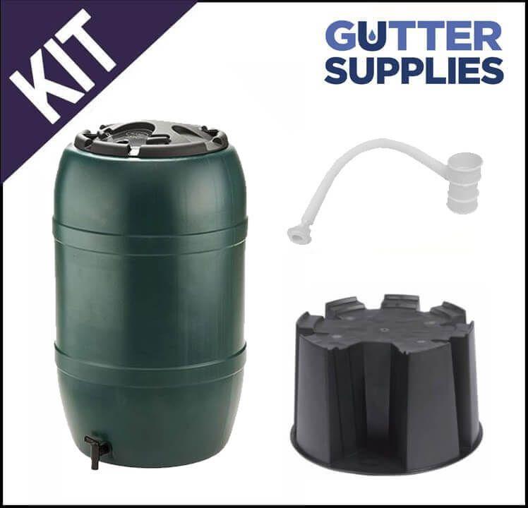 Water Butt Kit for Mini Gutter - White