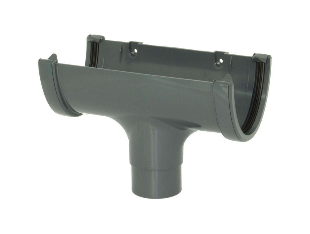 Deepflow/ Hi-Cap Gutter Running Outlet - 115mm x 75mm Anthracite Grey