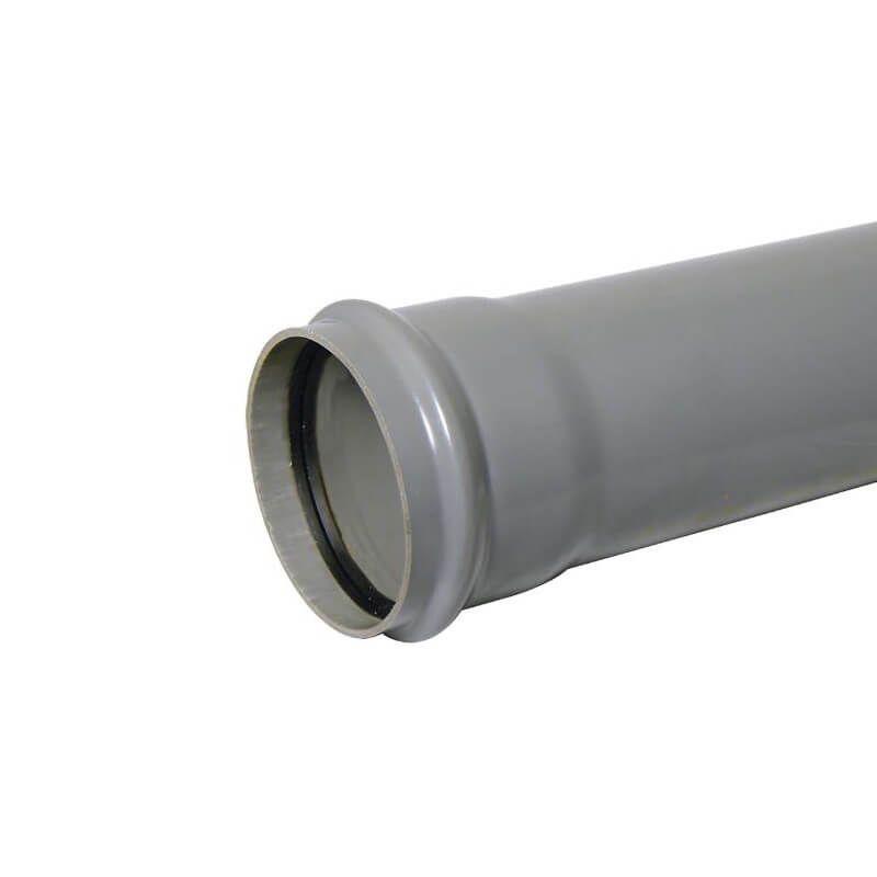 Industrial/ Xtraflo Downpipe Single Socket - 110mm x 1mtr Grey