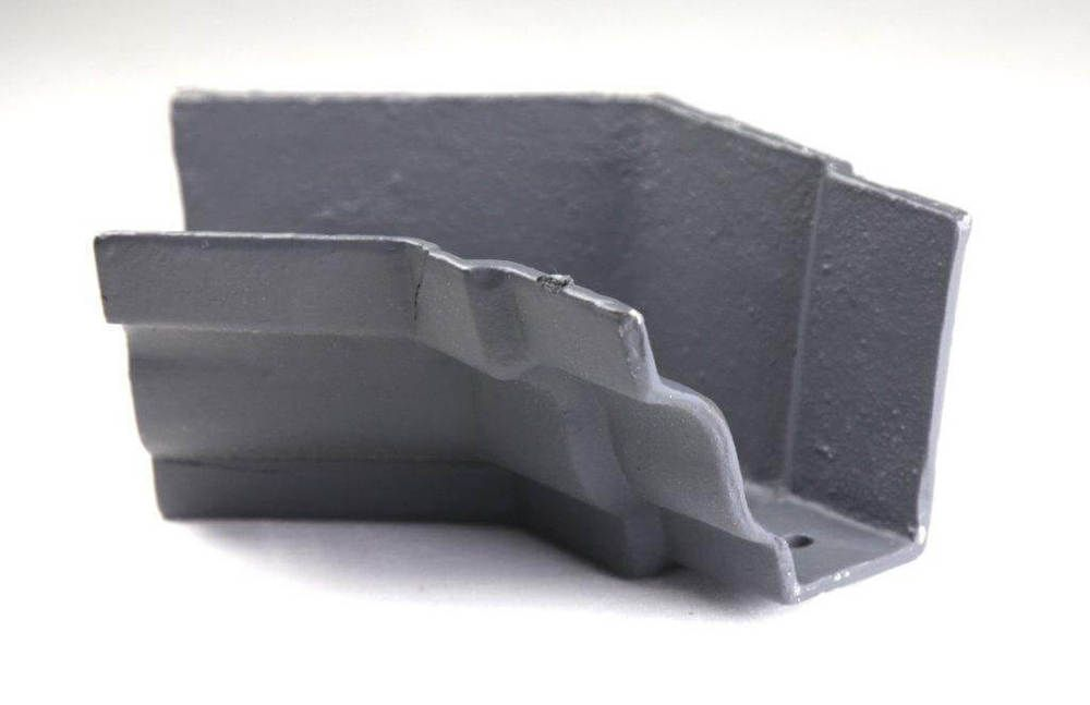 Cast Iron Moulded Ogee Gutter Internal Angle - 135 Degree x 125mm Primed