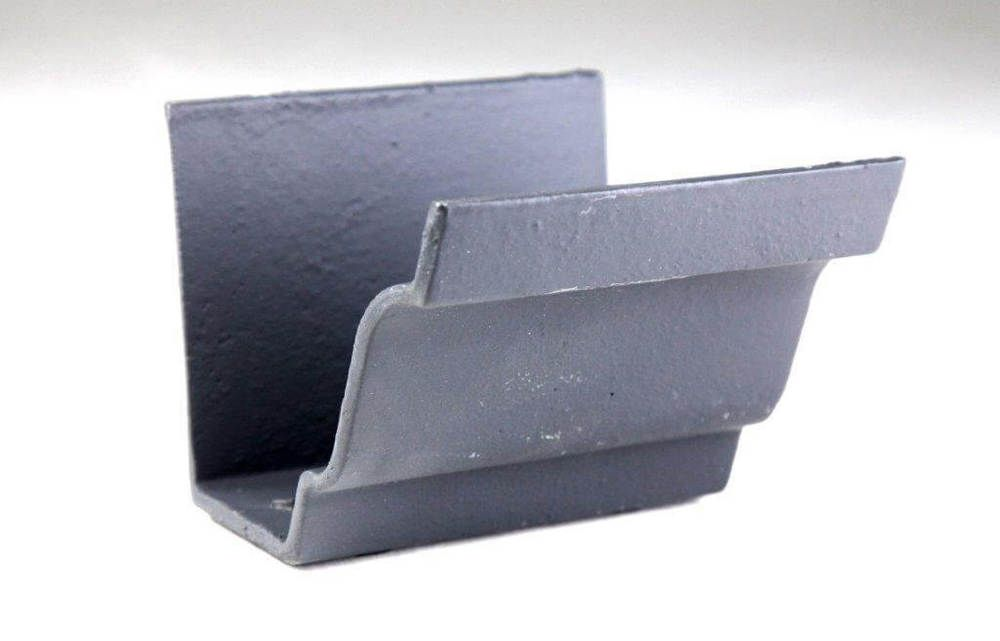 Cast Iron Moulded Ogee Gutter Union - 125mm Primed