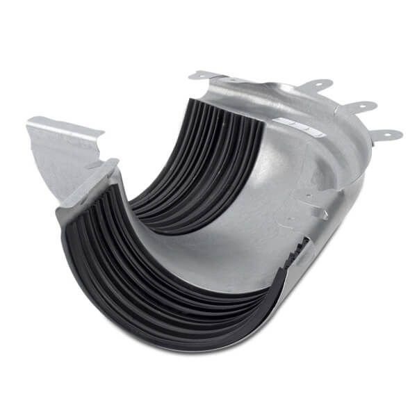 Steel Gutter External Adjustable Angle - 135mm Galvanised