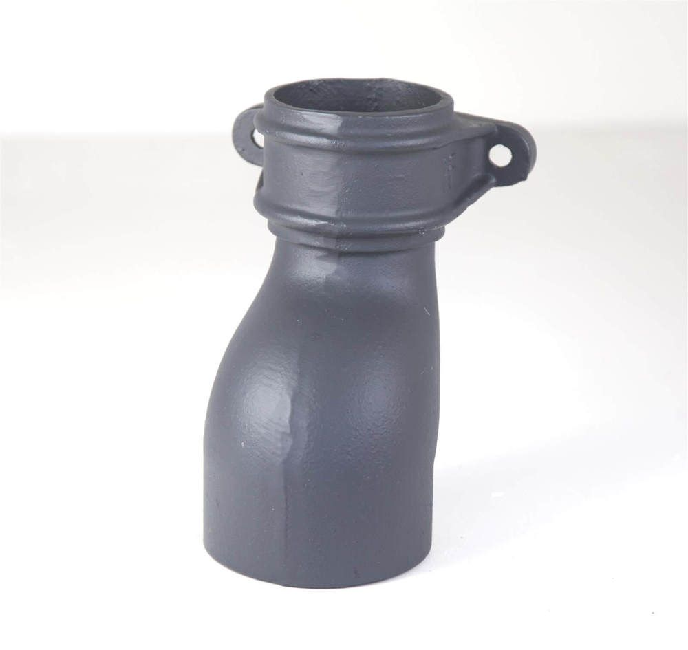 Cast Iron Round Downpipe Eared Anti-Splash Shoe - 65mm Primed