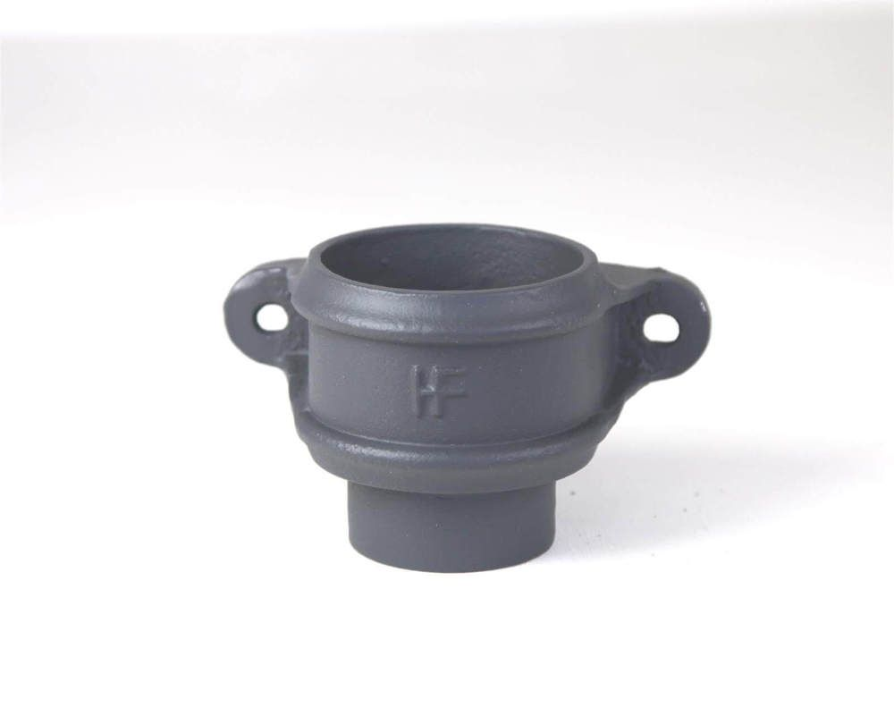 Cast Iron Round Downpipe Eared Loose Socket with Spigot - 75mm Primed - OUT OF STOCK
