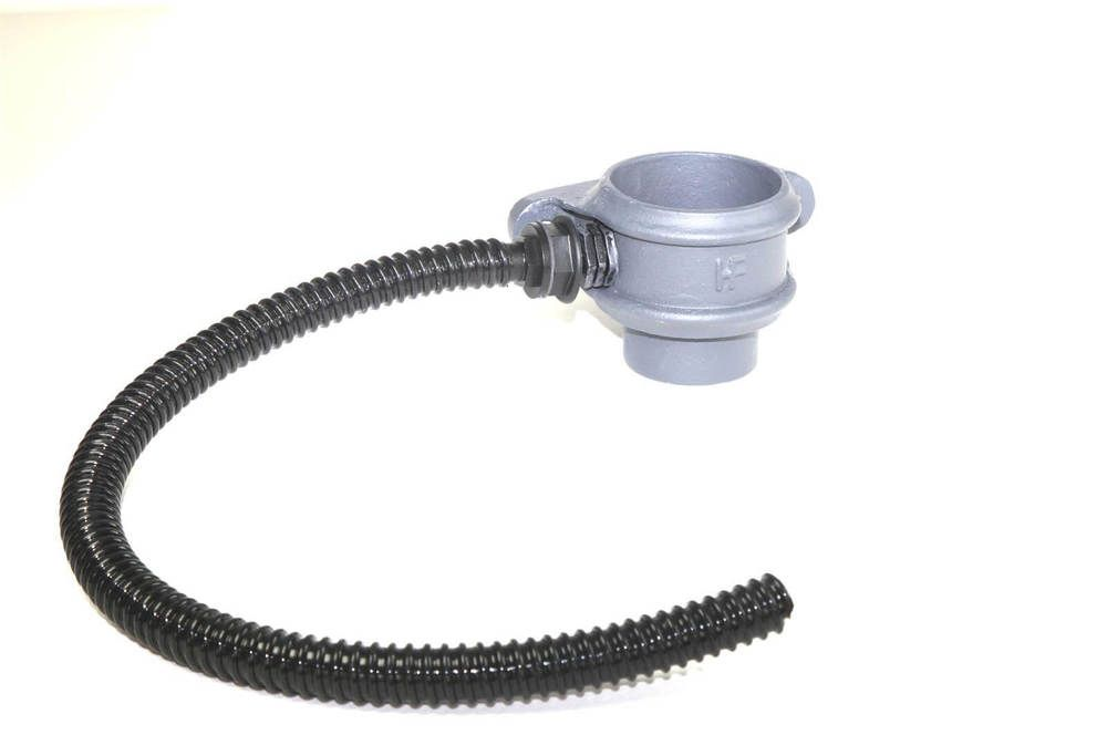 Cast Iron Round Downpipe Diverter Kit Left Hand - 100mm Primed