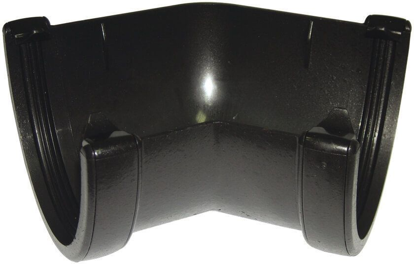 Deepflow/ Hi-Cap Gutter Angle - 135 Degree x 115mm Cast Iron Effect