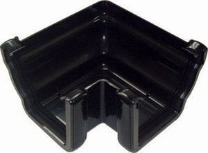 Ogee Gutter External Angle - 90 Degree x 80mm Black