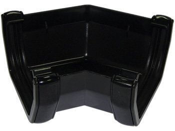 Square Gutter Angle - 135 Degree Black