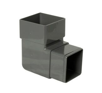 Square Downpipe Bend - 92.5 Degree Anthracite Grey