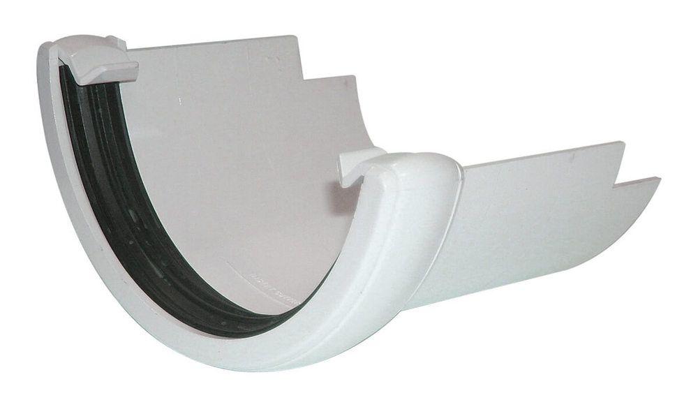 PVC Half Round to Cast Iron Half Round Gutter Adaptor - White