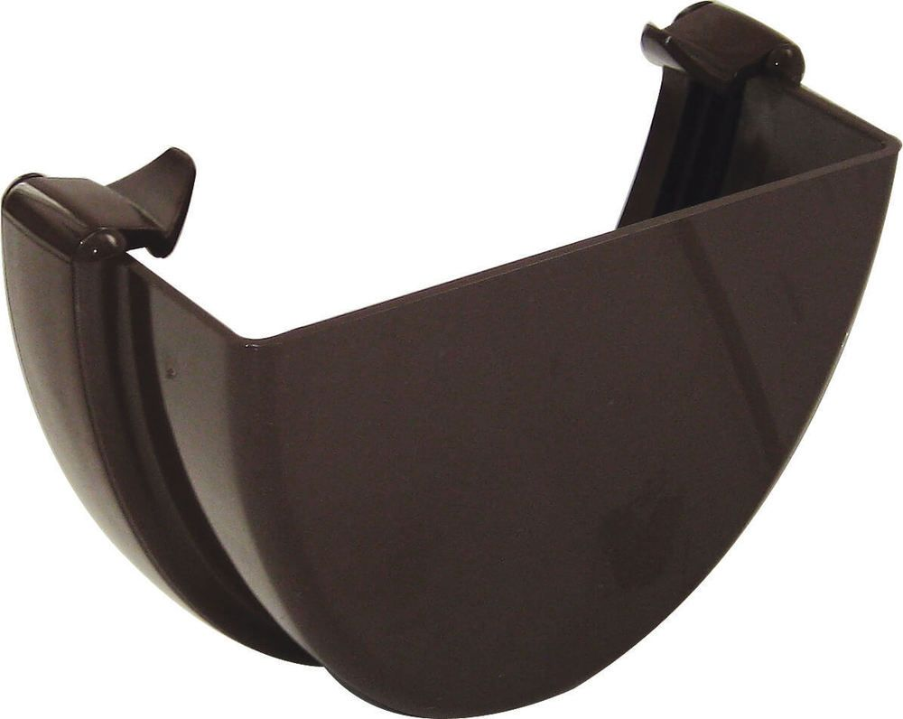 Deepflow/ Hi-Cap Gutter External Stopend - 115mm x 75mm Brown