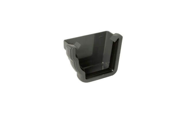 Ogee Gutter External Stopend Left Hand - 110mm x 80mm Anthracite Grey