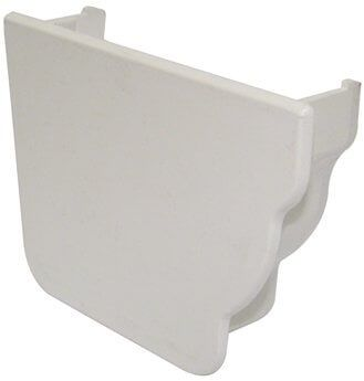 Ogee Gutter Internal Stopend Left Hand - 110mm x 80mm White