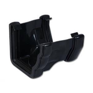 Square to Ogee Right Hand Gutter Adaptor - Black
