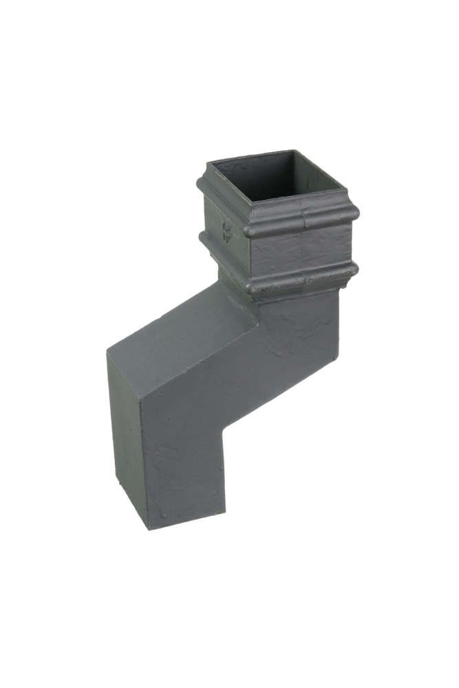 Cast Iron Rectangular Downpipe - 305mm Front Projection 100mm x 75mm Primed