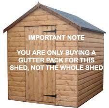 Mini Gutter Shed Pack Apex Style Roof - 8 x 6 Brown