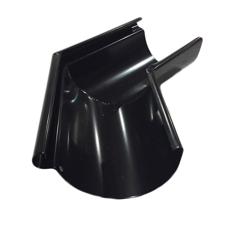 Steel Gutter External Angle - 135 Degree x 100mm Black