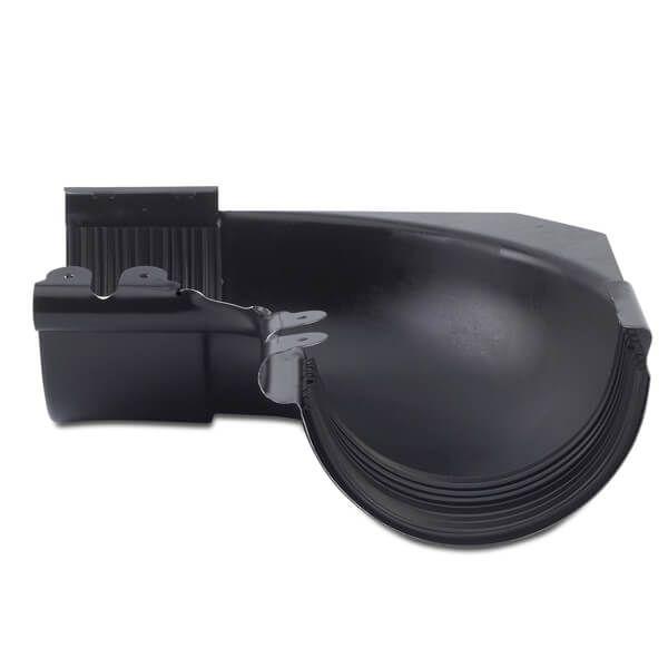 Steel Gutter Internal Angle - 90 Degree x 135mm Black