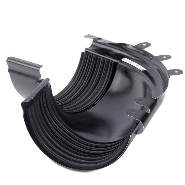 Steel Gutter External Adjustable Angle - 135mm Black