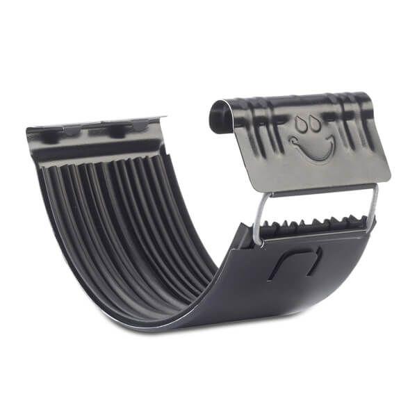 Steel Gutter Union - 135mm Black